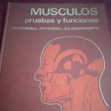 Libros de segunda mano: MUSCULOS PRUEBAS Y FUNCIONES. KENDALL. EDITORIAL JIMS. Lote 231204590