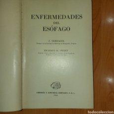 Libros de segunda mano: ENFERMEDADES DEL ESÓFAGO RICHARD H SWEET EEUU 1961 TERRACOL ILUSTRADO. Lote 231669945