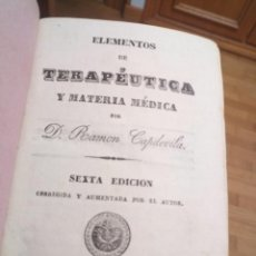 Libros de segunda mano: LIBRO MEDICINA TERAPÉUTICA Y MATERIA MÉDICA 1843. Lote 231895990