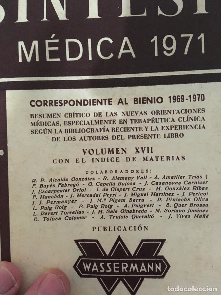 Libros de segunda mano: Sintesis médica 1971 (medicina) - Foto 2 - 232069240