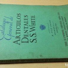 Libros de segunda mano: CATALOG GENERAL ARTICULOS DENTALES SS WHITE / AÑO 1931 / / ZESQ505. Lote 232648245