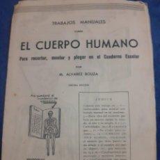 Libros de segunda mano: ANTIGUO CUADERNO DE TRABAJOS MANUALES EL CUERPO HUMANO. Lote 233343160