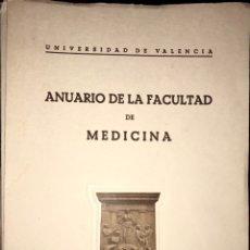 Libros de segunda mano: LOTE 6 LIBROS ANUARIO DE LA FACULTAD DE MEDICINA - UNIVERSIDAD VALENCIA - CURSO 55 A 63. Lote 233766345