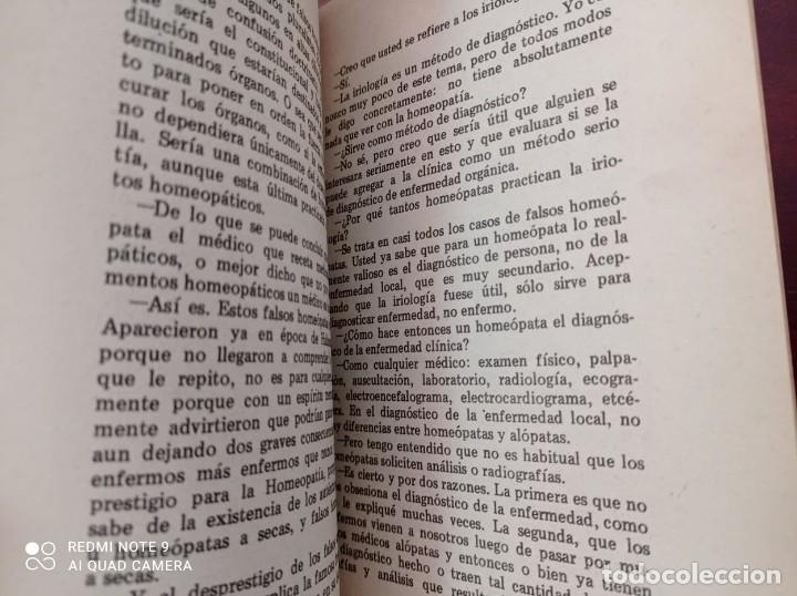 Libros de segunda mano: DIALOGOS CON UN HOMEOPATA - ZALMAN - Foto 5 - 234515210