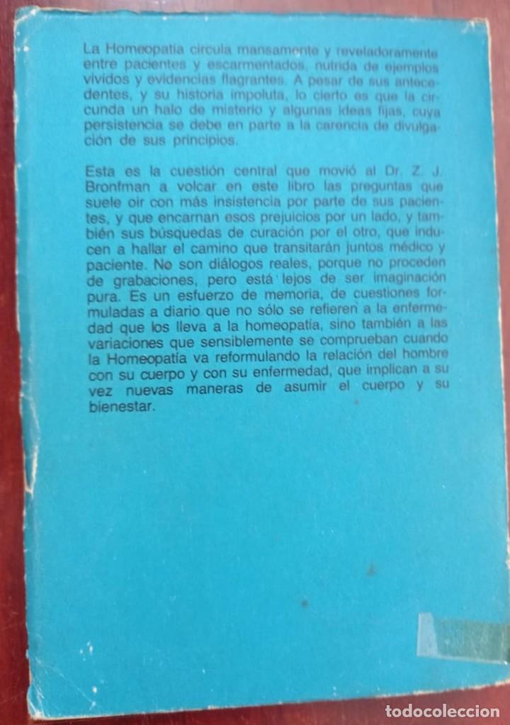 Libros de segunda mano: DIALOGOS CON UN HOMEOPATA - ZALMAN - Foto 6 - 234515210