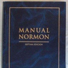 Libros de segunda mano: MANUAL NORMON - SEPTIMA EDICIÓN - LABORATORIOS NORMON 1999 - VER DESCRIPCIÓN. Lote 235223460