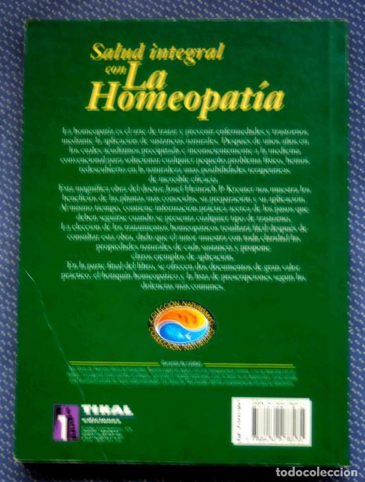Libros de segunda mano: SALUD INTEGRAL CON LA HOMEOPATIA.-JOSEF HEINRICH P. KRENTER - Editorial SUSAETA - Foto 2 - 236059030