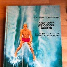 Libros de segunda mano: * CH. DÉSIRE | F. VILLENEUVE, ANATOMIA. FISIOLOGÍA. HIGIENE, MONTANER Y SIMON, 1973, 288 PP. Lote 236644745
