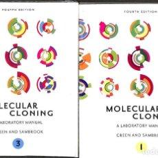 Libros de segunda mano: MOLECULAR CLONING A LABORATORY MANUAL GREEN AND SAMBROOK ( INCLUYE TOMO 1 Y 3 ). Lote 237102740