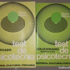 Libros de segunda mano: TEST DE PSICOTÉCNIA. Lote 241703770