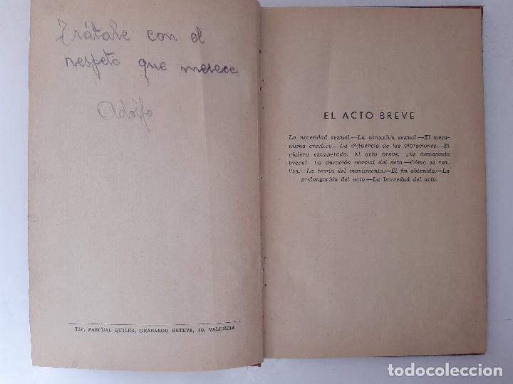 Libros de segunda mano: EL PLACER RECIPROCO ANTOLOGIA DE LA FELICIDAD CONYUGAL Dr SMOLENSKI - Foto 8 - 241714425