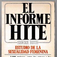 Libros de segunda mano: EL INFORME HITE - SHERE HITE - ESTUDIO DE LA SEXUALIDAD FEMENINA - PLAZA JANES 1977. Lote 244684140