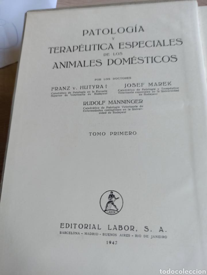 Libros de segunda mano: Patología y Terapéutica Especiales de los Animales Domesticos Tomo Primero Editorial Labor 1947 - Foto 4 - 244716700
