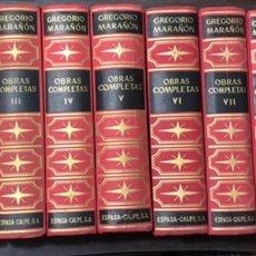 Libros de segunda mano: OBRAS COMPLETAS, GREGORIO MARAÑON 10 VOLÚMENES. Lote 245244450