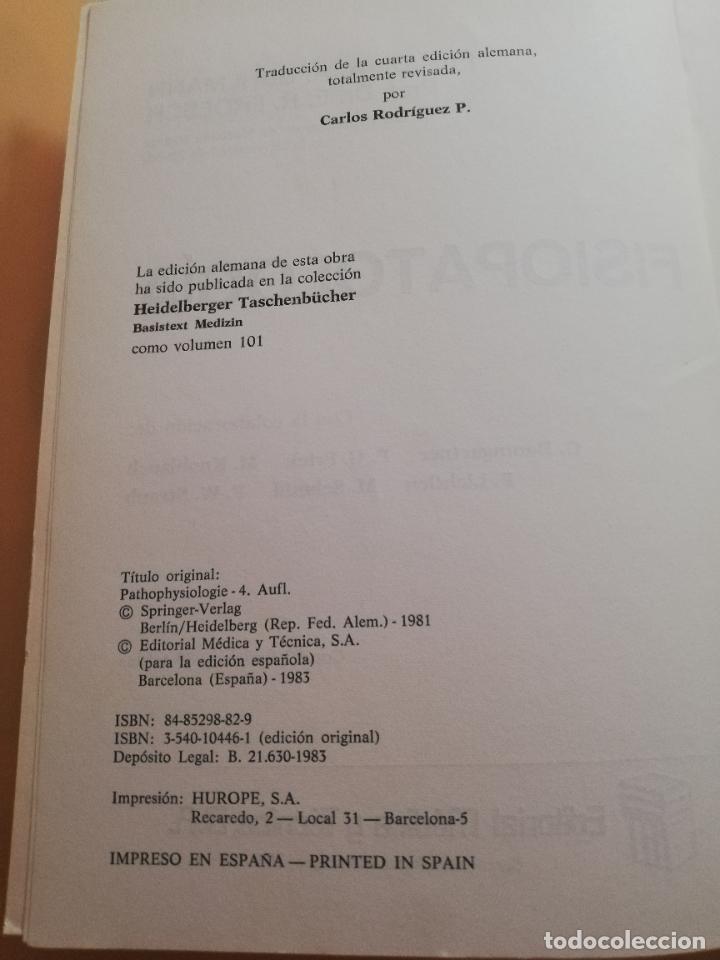 Libros de segunda mano: FISIOPATOLOGIA. A.A.BUHLMANN. E.R.FROESCH. EDITORIAL MEDICA Y TECNICA. 1981. PAG. 547. - Foto 3 - 245369670
