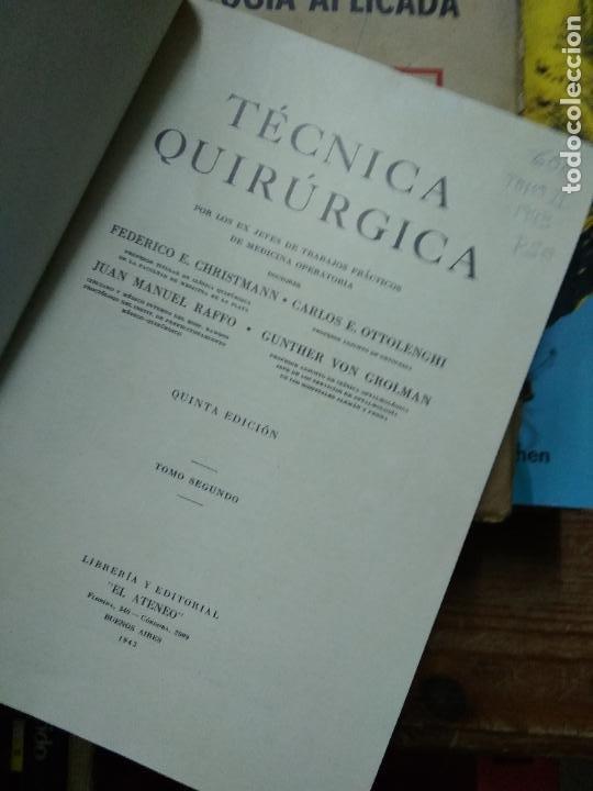Libros de segunda mano: Técnica quirúrgica, varios autores. Tomo II. 1943. EP-820-21 - Foto 2 - 257511345