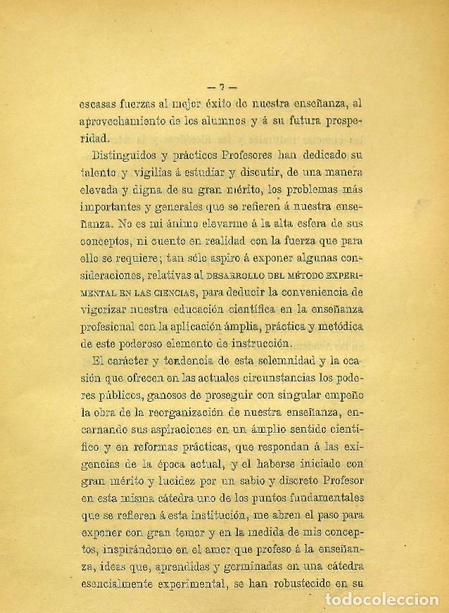 Libros de segunda mano: Discurso Universidad Central inauguración curso 1882 á 1883. Fausto Garagarza y Dugiols (Farmacia) - Foto 6 - 257732295