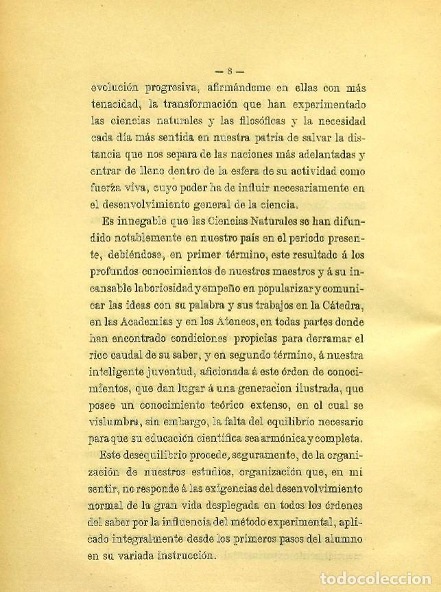 Libros de segunda mano: Discurso Universidad Central inauguración curso 1882 á 1883. Fausto Garagarza y Dugiols (Farmacia) - Foto 7 - 257732295