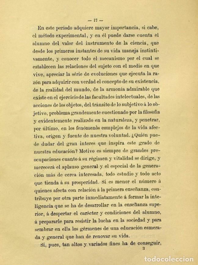 Libros de segunda mano: Discurso Universidad Central inauguración curso 1882 á 1883. Fausto Garagarza y Dugiols (Farmacia) - Foto 8 - 257732295