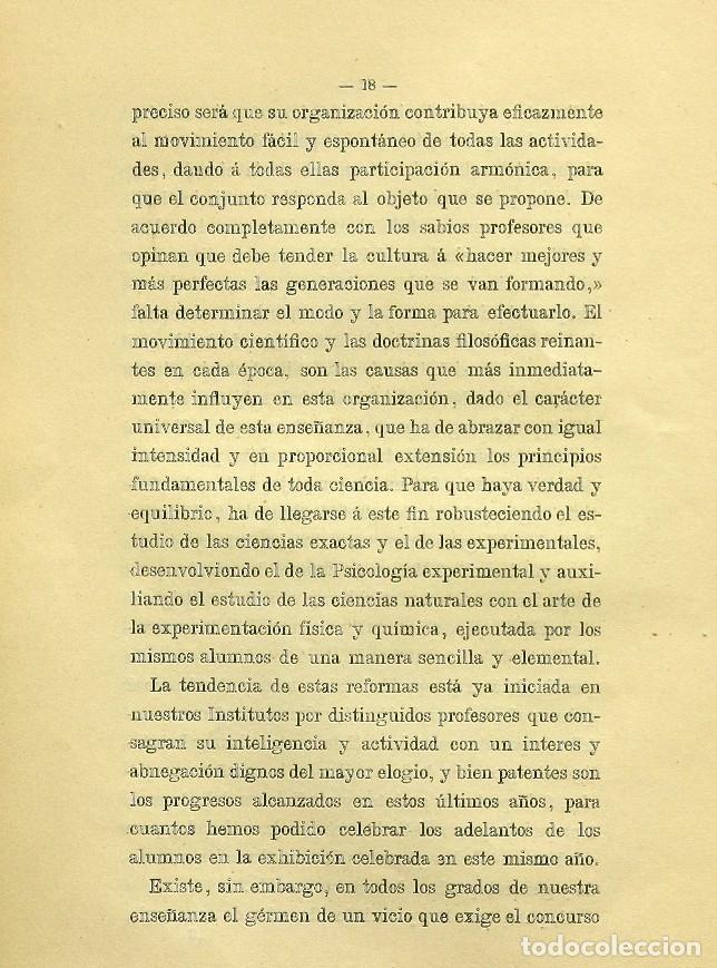 Libros de segunda mano: Discurso Universidad Central inauguración curso 1882 á 1883. Fausto Garagarza y Dugiols (Farmacia) - Foto 9 - 257732295