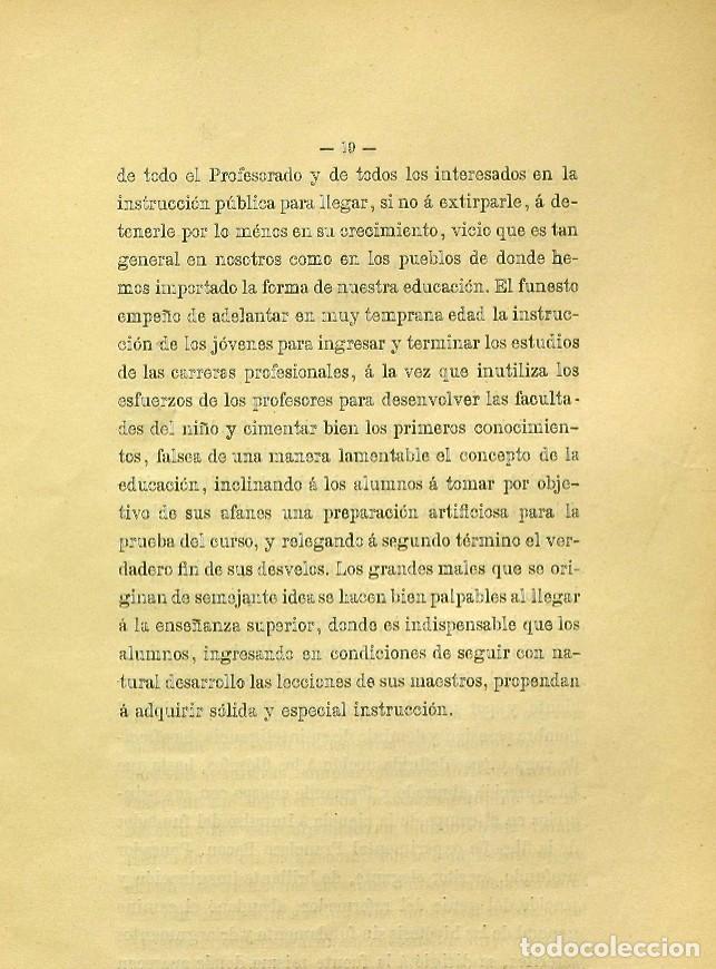 Libros de segunda mano: Discurso Universidad Central inauguración curso 1882 á 1883. Fausto Garagarza y Dugiols (Farmacia) - Foto 10 - 257732295