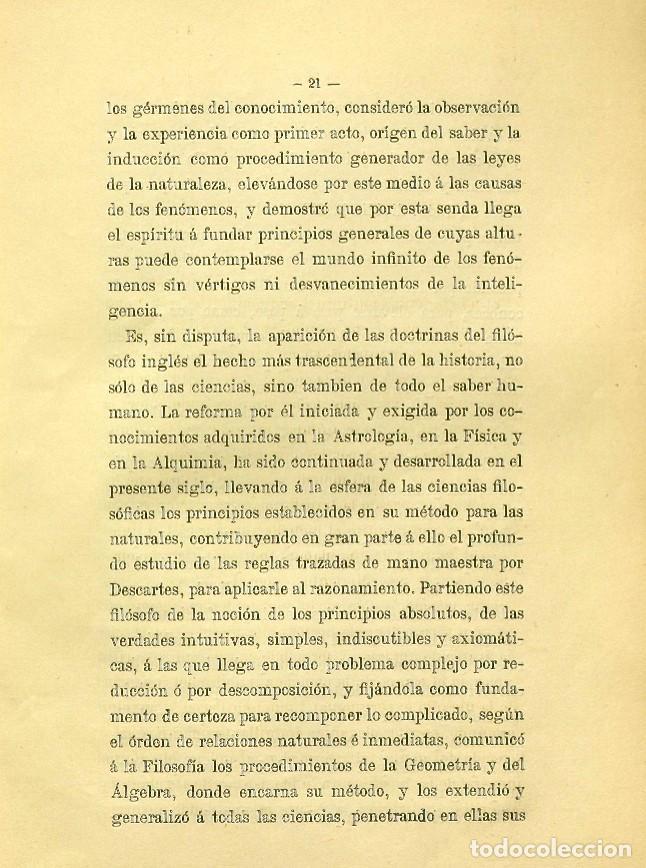 Libros de segunda mano: Discurso Universidad Central inauguración curso 1882 á 1883. Fausto Garagarza y Dugiols (Farmacia) - Foto 12 - 257732295