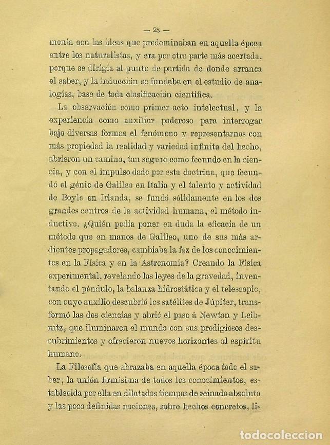 Libros de segunda mano: Discurso Universidad Central inauguración curso 1882 á 1883. Fausto Garagarza y Dugiols (Farmacia) - Foto 14 - 257732295