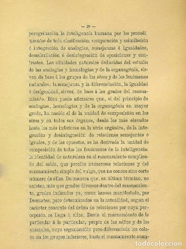 Libros de segunda mano: Discurso Universidad Central inauguración curso 1882 á 1883. Fausto Garagarza y Dugiols (Farmacia) - Foto 20 - 257732295