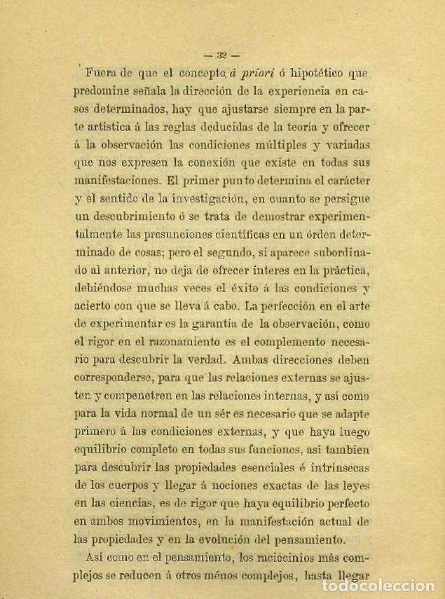 Libros de segunda mano: Discurso Universidad Central inauguración curso 1882 á 1883. Fausto Garagarza y Dugiols (Farmacia) - Foto 23 - 257732295