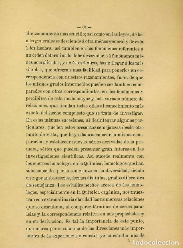 Libros de segunda mano: Discurso Universidad Central inauguración curso 1882 á 1883. Fausto Garagarza y Dugiols (Farmacia) - Foto 24 - 257732295