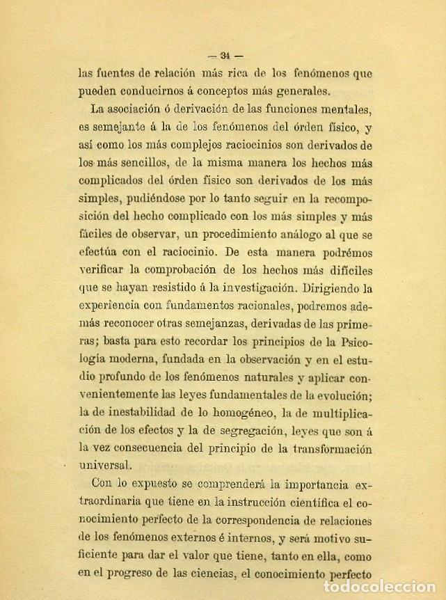 Libros de segunda mano: Discurso Universidad Central inauguración curso 1882 á 1883. Fausto Garagarza y Dugiols (Farmacia) - Foto 25 - 257732295