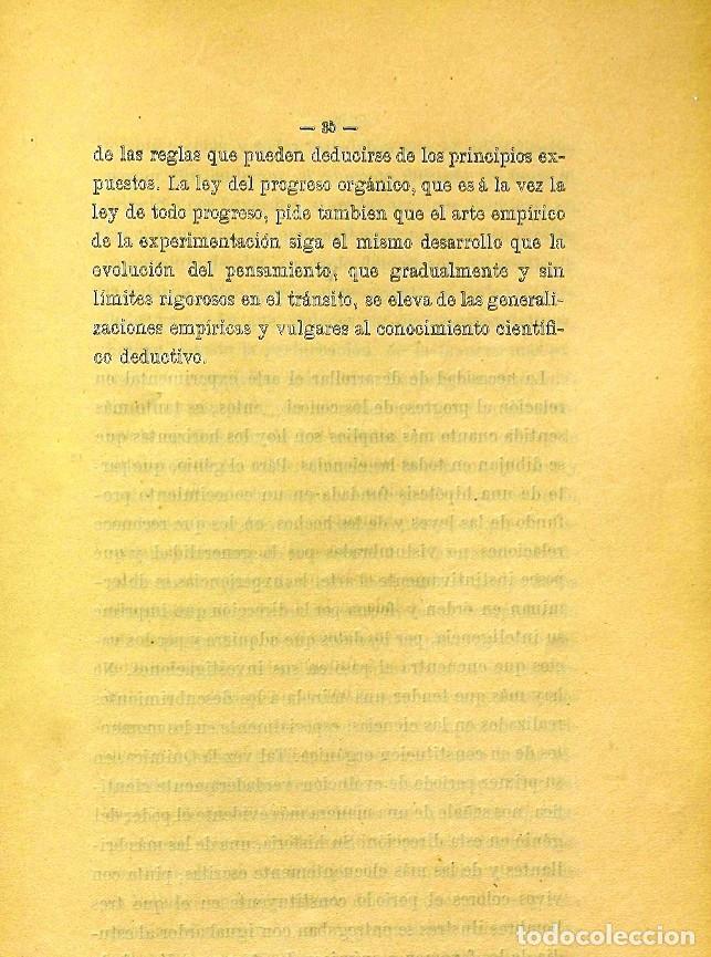 Libros de segunda mano: Discurso Universidad Central inauguración curso 1882 á 1883. Fausto Garagarza y Dugiols (Farmacia) - Foto 26 - 257732295