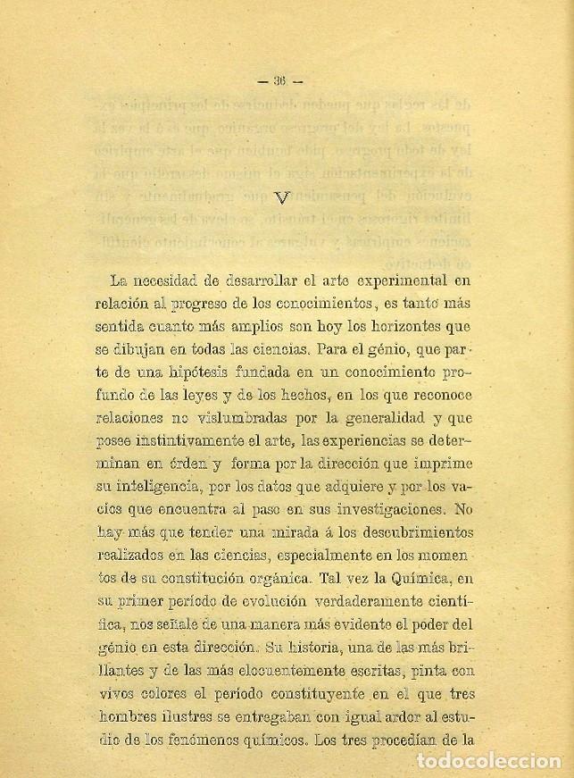 Libros de segunda mano: Discurso Universidad Central inauguración curso 1882 á 1883. Fausto Garagarza y Dugiols (Farmacia) - Foto 27 - 257732295