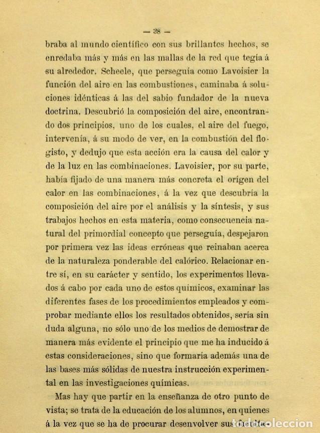 Libros de segunda mano: Discurso Universidad Central inauguración curso 1882 á 1883. Fausto Garagarza y Dugiols (Farmacia) - Foto 29 - 257732295