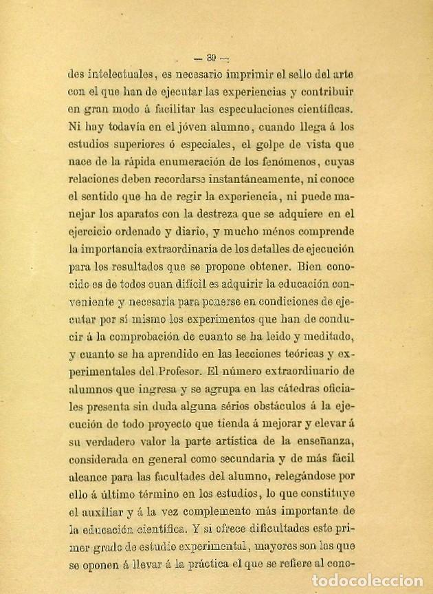 Libros de segunda mano: Discurso Universidad Central inauguración curso 1882 á 1883. Fausto Garagarza y Dugiols (Farmacia) - Foto 30 - 257732295