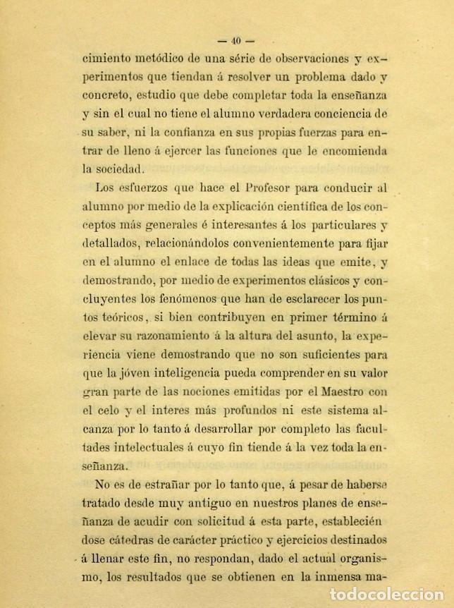 Libros de segunda mano: Discurso Universidad Central inauguración curso 1882 á 1883. Fausto Garagarza y Dugiols (Farmacia) - Foto 31 - 257732295
