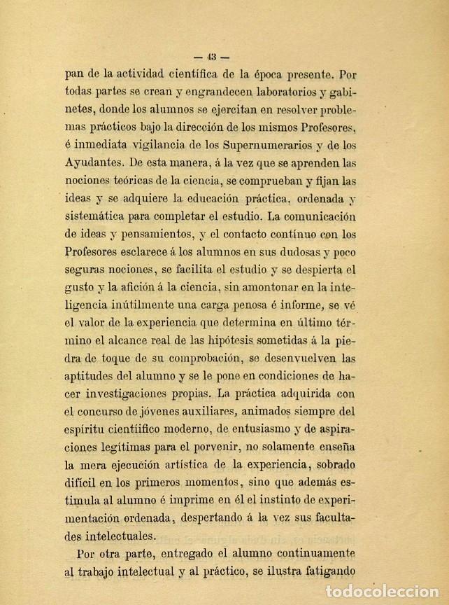 Libros de segunda mano: Discurso Universidad Central inauguración curso 1882 á 1883. Fausto Garagarza y Dugiols (Farmacia) - Foto 34 - 257732295