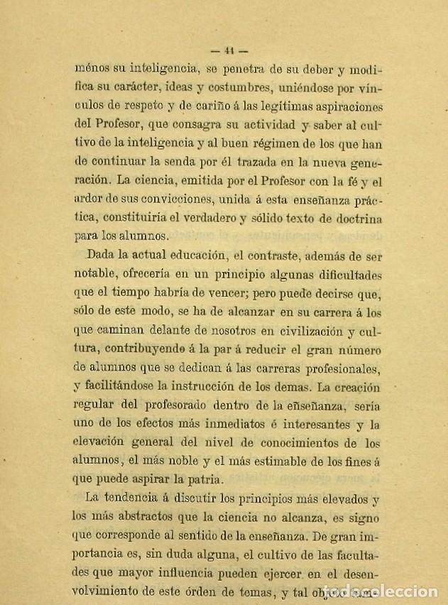 Libros de segunda mano: Discurso Universidad Central inauguración curso 1882 á 1883. Fausto Garagarza y Dugiols (Farmacia) - Foto 35 - 257732295