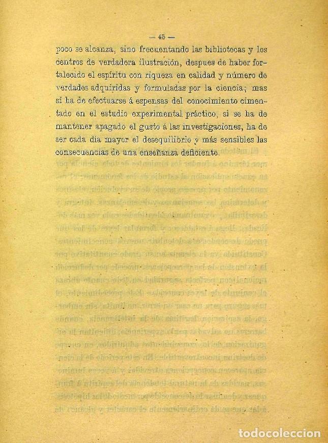 Libros de segunda mano: Discurso Universidad Central inauguración curso 1882 á 1883. Fausto Garagarza y Dugiols (Farmacia) - Foto 36 - 257732295