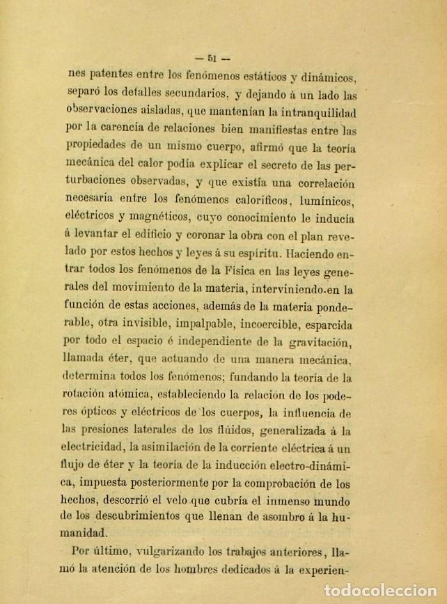 Libros de segunda mano: Discurso Universidad Central inauguración curso 1882 á 1883. Fausto Garagarza y Dugiols (Farmacia) - Foto 42 - 257732295
