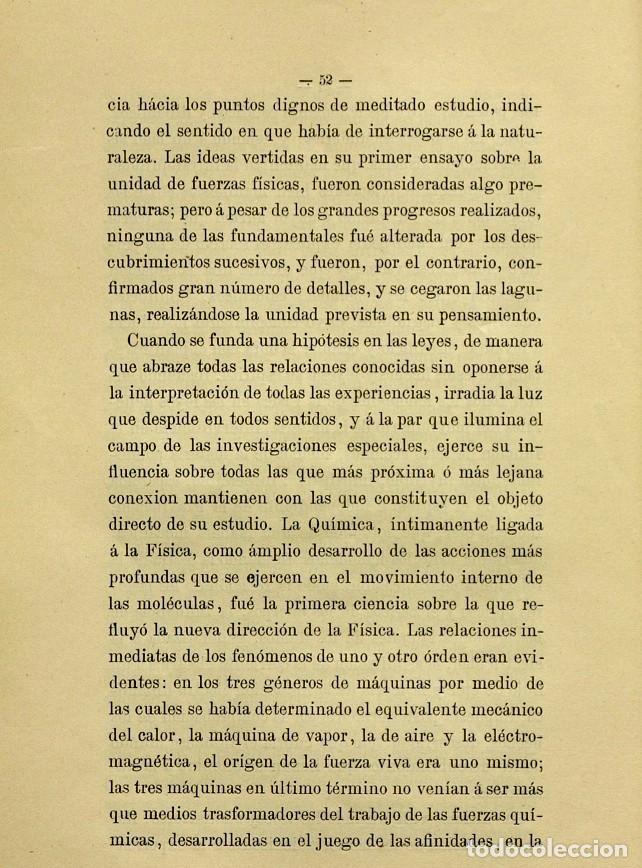 Libros de segunda mano: Discurso Universidad Central inauguración curso 1882 á 1883. Fausto Garagarza y Dugiols (Farmacia) - Foto 43 - 257732295