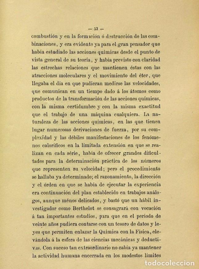 Libros de segunda mano: Discurso Universidad Central inauguración curso 1882 á 1883. Fausto Garagarza y Dugiols (Farmacia) - Foto 44 - 257732295