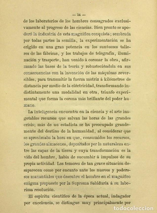 Libros de segunda mano: Discurso Universidad Central inauguración curso 1882 á 1883. Fausto Garagarza y Dugiols (Farmacia) - Foto 45 - 257732295
