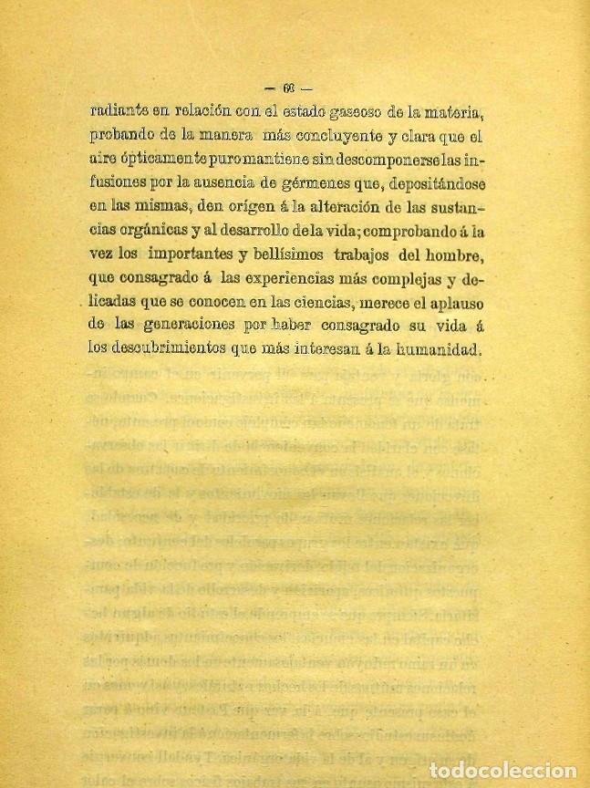 Libros de segunda mano: Discurso Universidad Central inauguración curso 1882 á 1883. Fausto Garagarza y Dugiols (Farmacia) - Foto 51 - 257732295