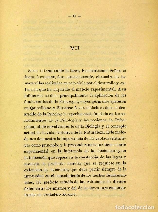 Libros de segunda mano: Discurso Universidad Central inauguración curso 1882 á 1883. Fausto Garagarza y Dugiols (Farmacia) - Foto 52 - 257732295