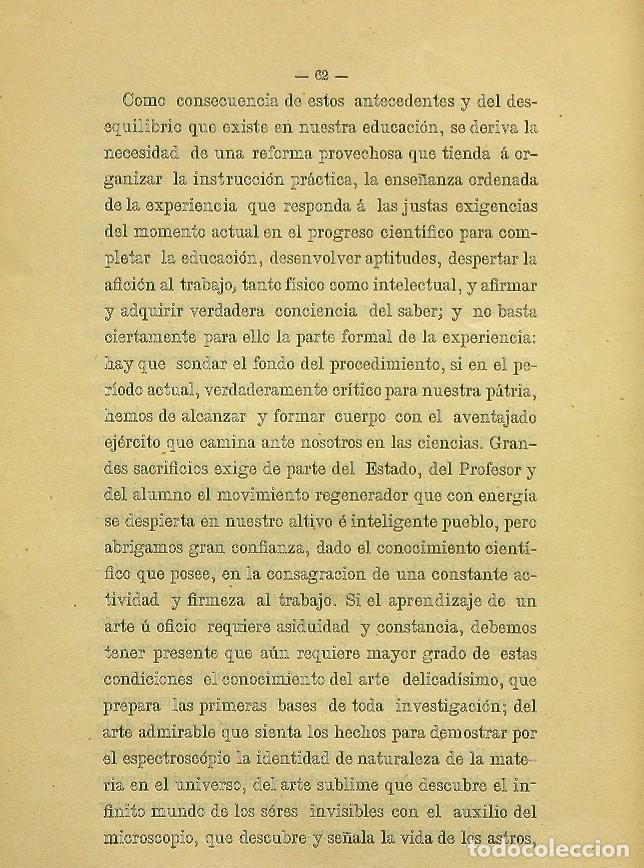 Libros de segunda mano: Discurso Universidad Central inauguración curso 1882 á 1883. Fausto Garagarza y Dugiols (Farmacia) - Foto 53 - 257732295