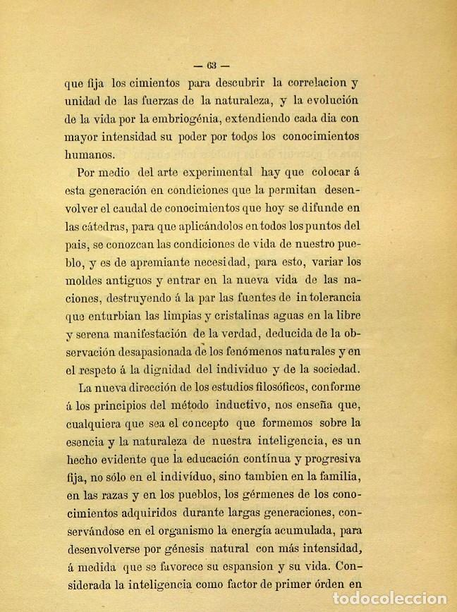 Libros de segunda mano: Discurso Universidad Central inauguración curso 1882 á 1883. Fausto Garagarza y Dugiols (Farmacia) - Foto 54 - 257732295