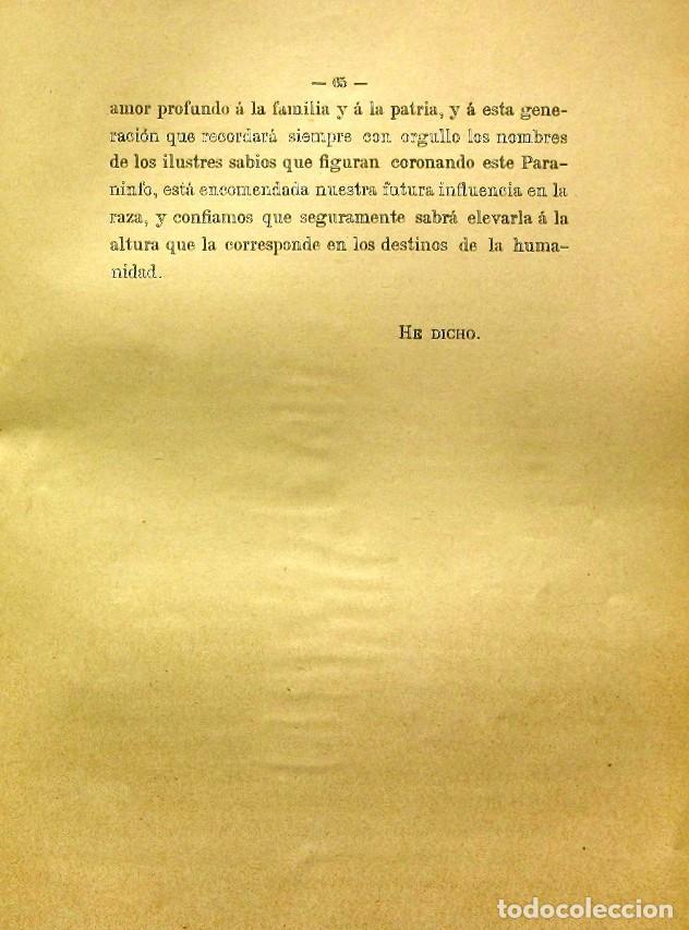 Libros de segunda mano: Discurso Universidad Central inauguración curso 1882 á 1883. Fausto Garagarza y Dugiols (Farmacia) - Foto 56 - 257732295