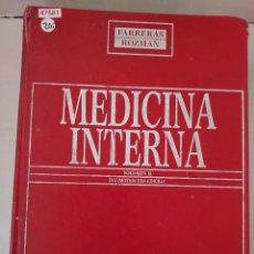 Libros de segunda mano: 47581 - MEDICINA INTERNA - VOLUMEN II - 13ª EDICION - EDITORIAL DOYMA LIBRO - AÑO ?. Lote 262190580
