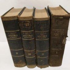 Libros de segunda mano: ANATOMIA HUMANA L. TESTUT PREMIO 1902 4 TOMOS COMPLETO. Lote 262961315